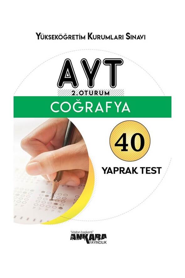 AYT Coğrafya 40 Yaprak Test Ankara Yayıncılık
