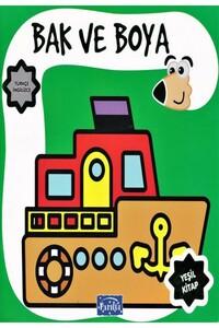 Parıltı Yayınları - Bak ve Boya Yeşil Kitap - Parıltı Yayınları