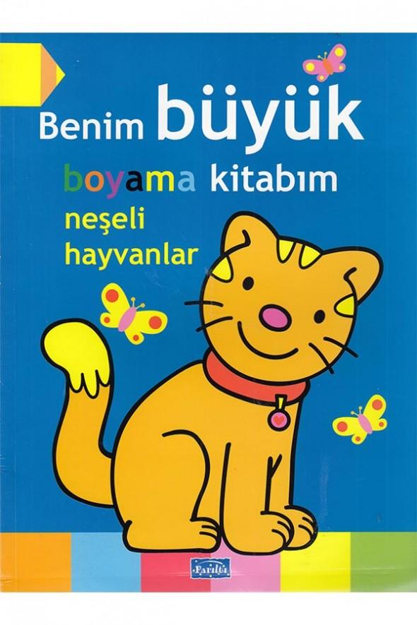 Benim Büyük Boyama Kitabım Neşeli Hayvanlar - Parıltı Yayınları