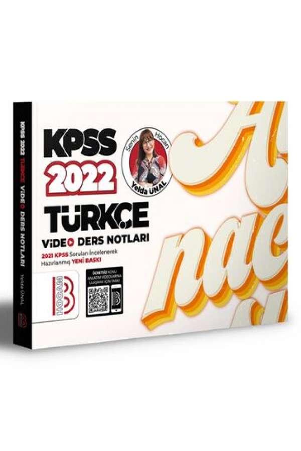 Benim Hocam Yayınları 2022 KPSS Türkçe Video Ders Notları