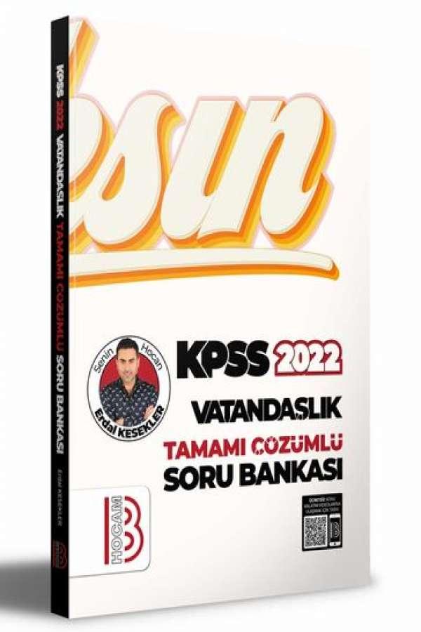 Benim Hocam Yayınları 2022 KPSS Vatandaşlık Tamamı Çözümlü Soru Bankası