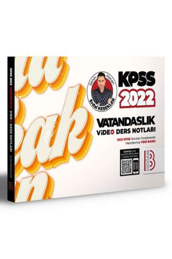 Benim Hocam Yayınları 2022 KPSS Vatandaşlık Video Ders Notları