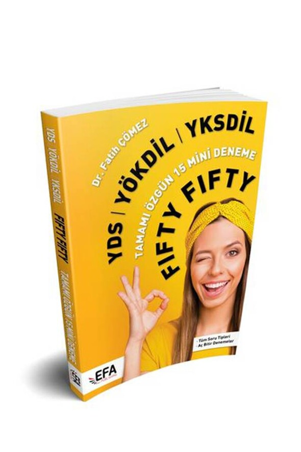 Benim Hocam Yayınları (EFA Serisi) YDS YÖKDİL YKSDİL FIFTY FIFTY 15 Mini Deneme