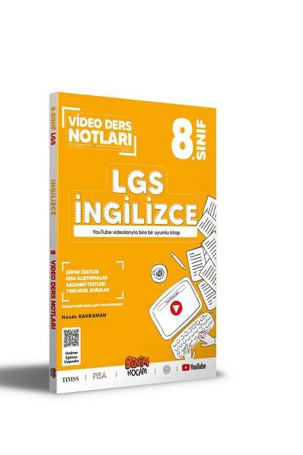 Benim Hocam Yayınları LGS 8. Sınıf İngilizce Video Ders Notları