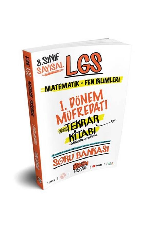 Benim Hocam Yayınları LGS 8.Sınıf Sayısal 1.Dönem Tekrarı Soru Bankası