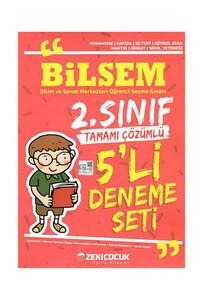 Zeki Çocuk Eğitici Kitaplar - Bilsem 2. Sınıf Tamamı Çözümlü 5` li Deneme Seti - Zeki Çocuk Eğitici Kitaplar