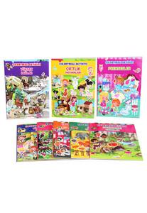 Yakamoz Çocuk - Çıkartmalı Aktivite Seti 8 Kitap - Yakamoz Çocuk