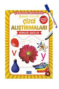 Parıltı Yayınları - Çizgi Alıştırmaları - Renkler Şekiller - Parıltı Yayınları - Yaz Sil Kalem Hediyeli