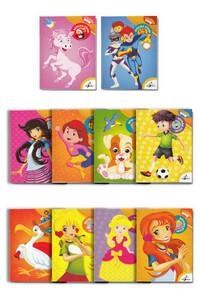 Çocuk Gezegeni - Çocuklar İçin Boyama Kitabı Seti - 10 Adet