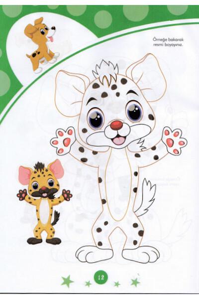 Çocuklar İçin Boyama Kitabı Seti - 10 Adet