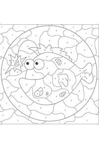 Çocuklar İçin Kodlamalı Mandala Seti 3 Kitap - Boyama Kalemi Hediyeli - Thumbnail