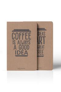 Yediveren Yayınları - Coffee Düz Not Defteri - 2 Adet