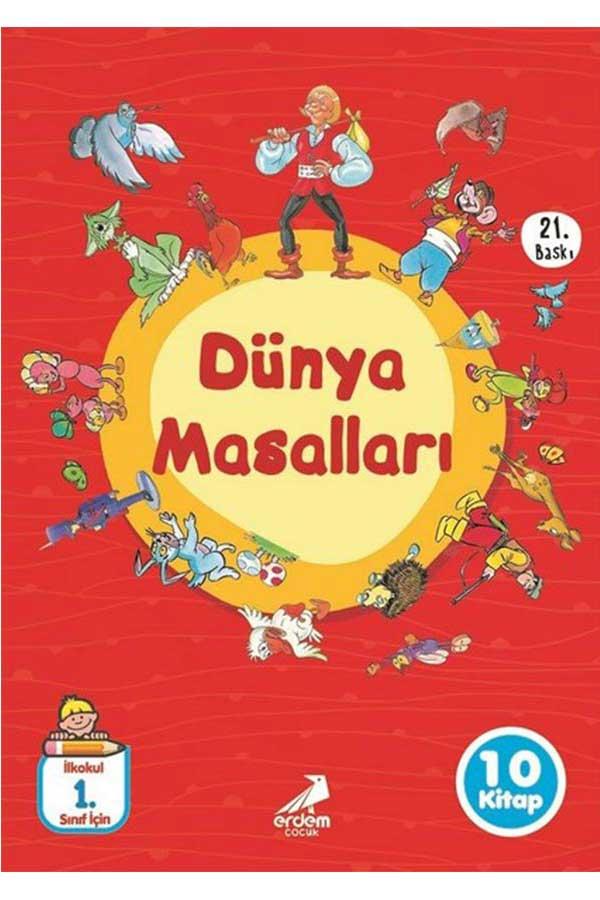 Dünya Masalları 10 Kitap 1. Sınıflar İçin - Erdem Çocuk Yayınları