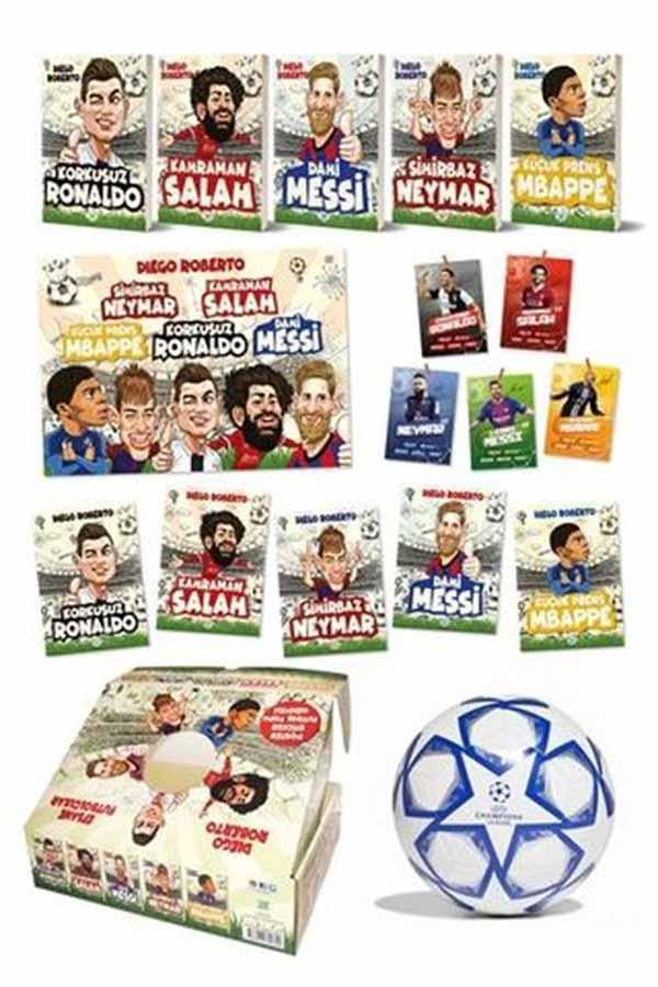 Efsane Futbolcular Seti - 5 Kitap Takım - Kutulu