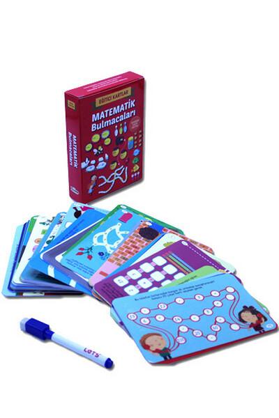 Eğitici Kartlar - Matematik Bulmacaları / Silinebilir Kalem Hediyeli