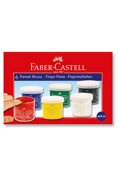 Faber Castell Parmak Boya 25 ml 6 Renk - 5170 160402