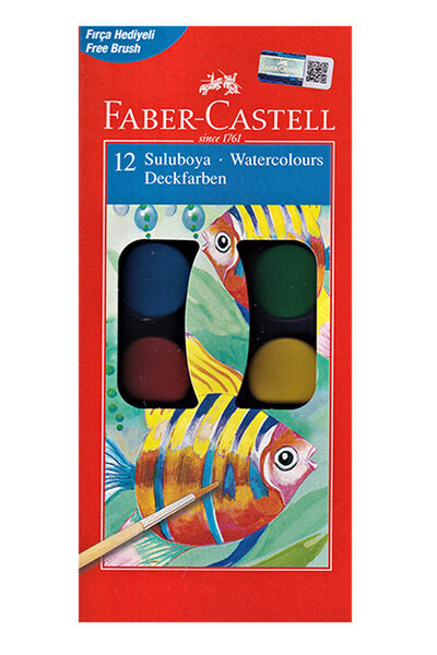 Faber Castell Suluboya 12 Renk Büyük Boy - 5292125021