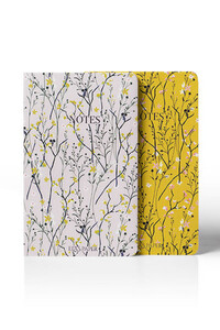 Yediveren Yayınları - Floral Çizgili Not Defteri - 2 Adet