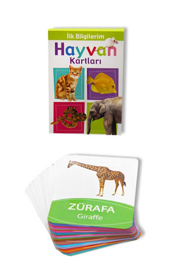 Hayvan Bak Öğren Kartları - İlk Bilgilerim 0-3 Yaş