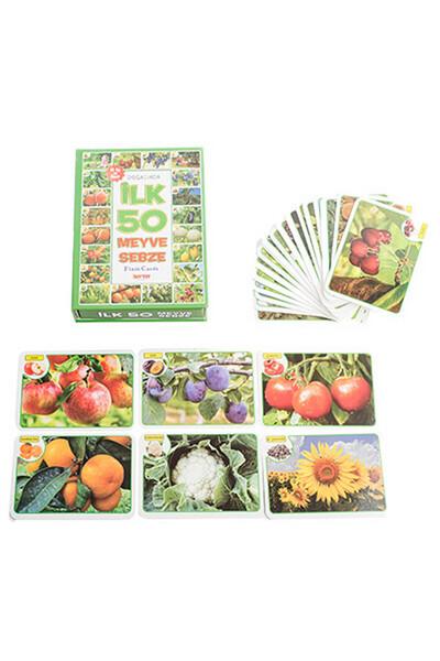 İlk 50 Meyve Sebze Flash Cards Diytoy