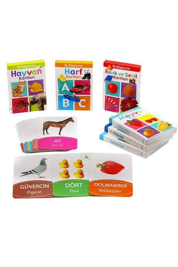 İlk Bilgilerim , Bebek Zeka ve Eğitim Bak Öğren Kartları Seti 0-3 Yaş - 6 Adet