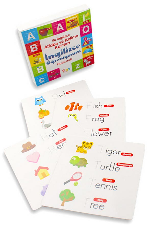 İlk İngilizce Alfabe ve Kelime Kartları İngilizce Öğreniyorum - Tiny Kids