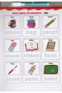 İlk İngilizce - Alıştırma Kitabım Diytoy - Yaz,Sil - Thumbnail
