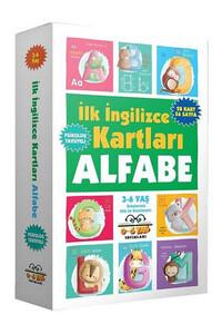 0-6 Yaş Yayınları - İlk İngilizce Kartları Alfabe 3-6 Yaş - 0-6 Yaş Yayınları