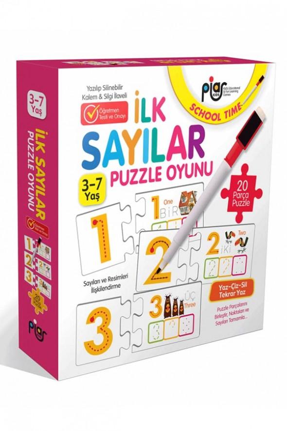 İlk Sayılar Eşleştirme-İlişkilendirme ve Puzzle Oyunu / 3-7 Yaş /