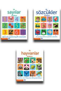 Parıltı Yayınları - İlk Sayılar, Sözcükler ve Hayvanlar Kitabım - 3 Kitap