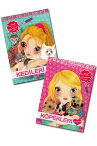Yakamoz Yayınları - Kedileri ve Köpekleri Seviyorum - 2 Kitap
