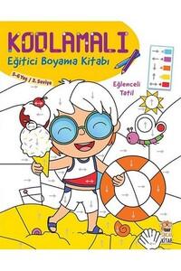 Sincap Kitap - Kodlamalı Eğitici Boyama Kitabı - Eğlenceli Tatil - 5-6 Yaş