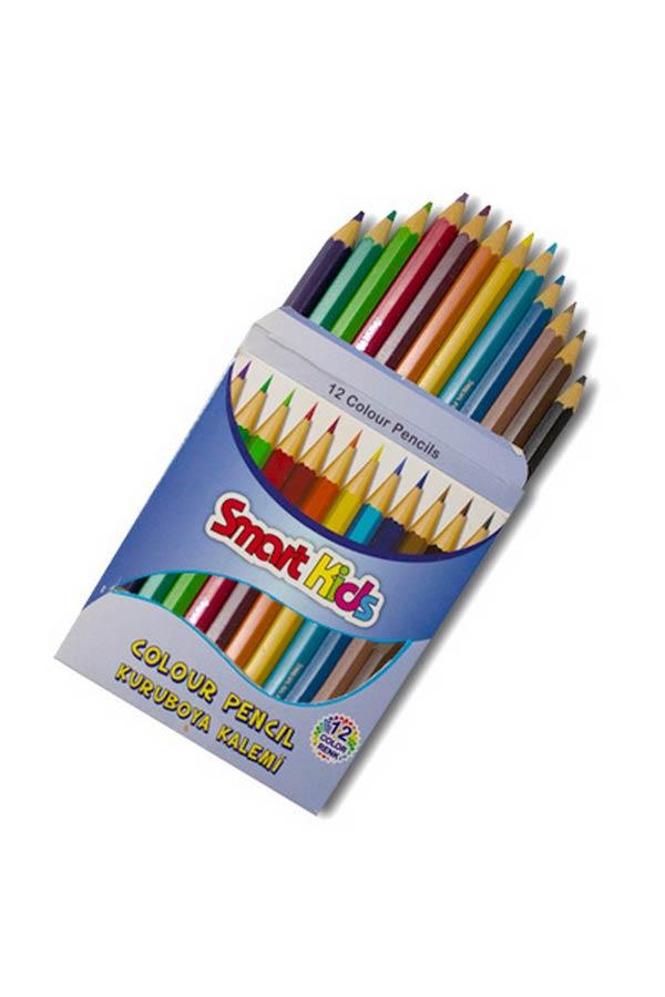 Kuru Boya Kısa 12 Renk - Smart Kids