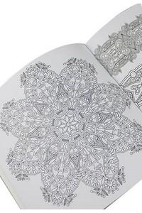 Mandala Büyükler İçin Boyama Seti - 3 Kitap ve 10'lu Kalem - Thumbnail