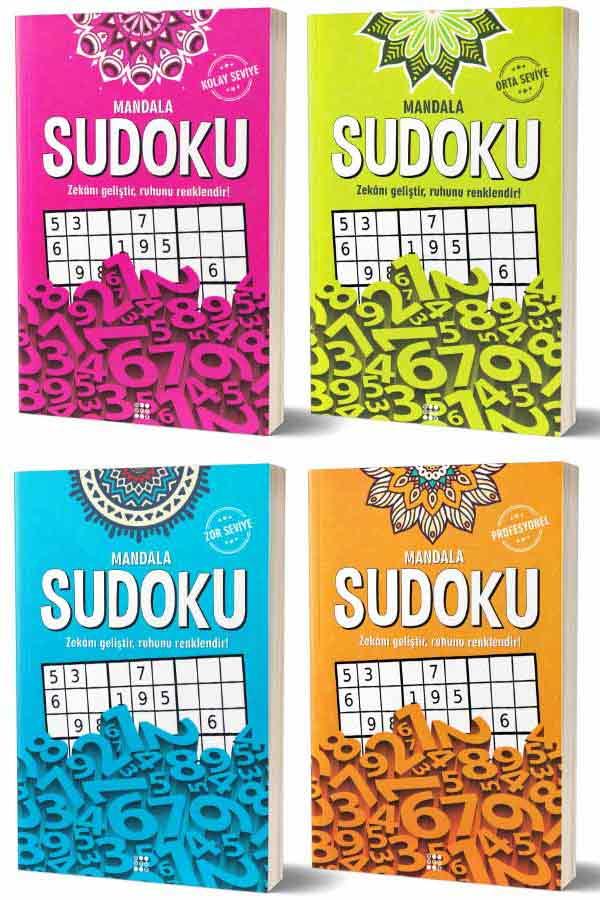 Mandala Sudoku Seti 4 Kitap - Dokuz Yayınları
