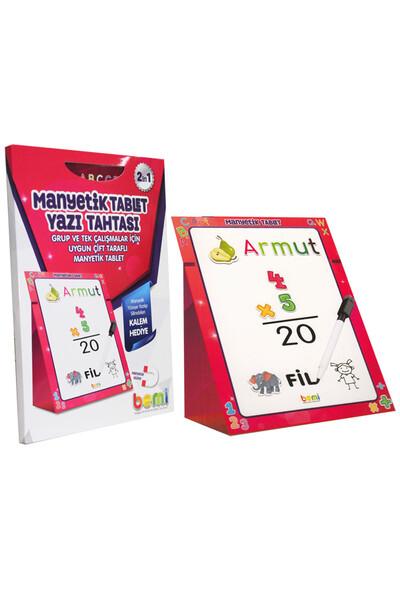 Manyetik Tablet Yazı Tahtası Pembe - Bemi