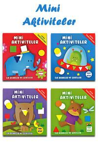 Parıltı Yayınları - Mini Aktiviteler İlk Renkler ve Şekiller Seti - 4 Kitap