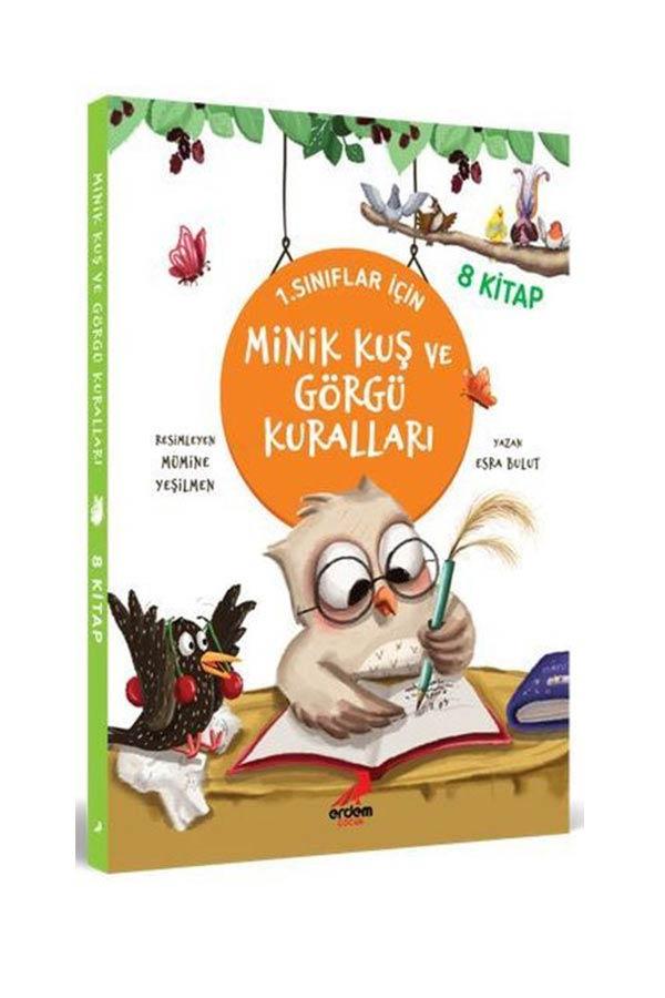 Minik Kuş ve Görgü Kuralları 1. Sınıflar İçin - 8 Kitap Takım - Erdem Çocuk Yayınları