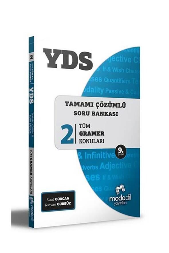 Modadil Yayınları YDS Tamamı Çözümlü Soru Bankası Serisi 2 Tüm Gramer Konuları