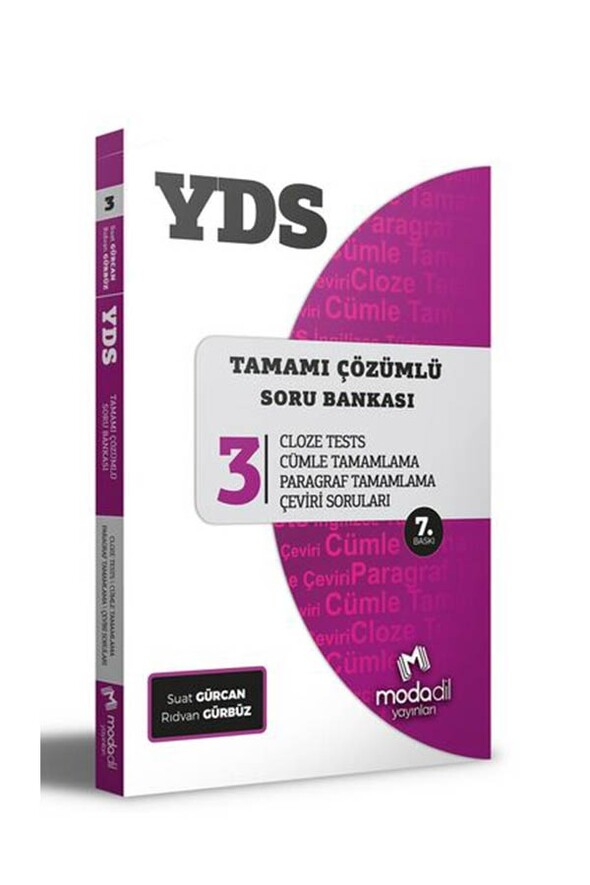 Modadil Yayınları YDS Tamamı Çözümlü Soru Bankası Serisi 3 Cloze Tests
