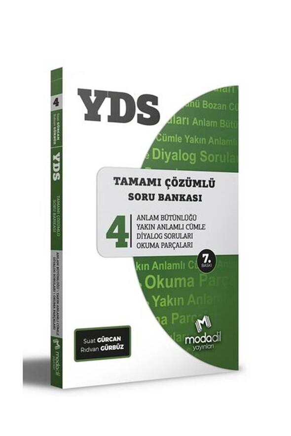 Modadil Yayınları YDS Tamamı Çözümlü Soru Bankası Serisi 4