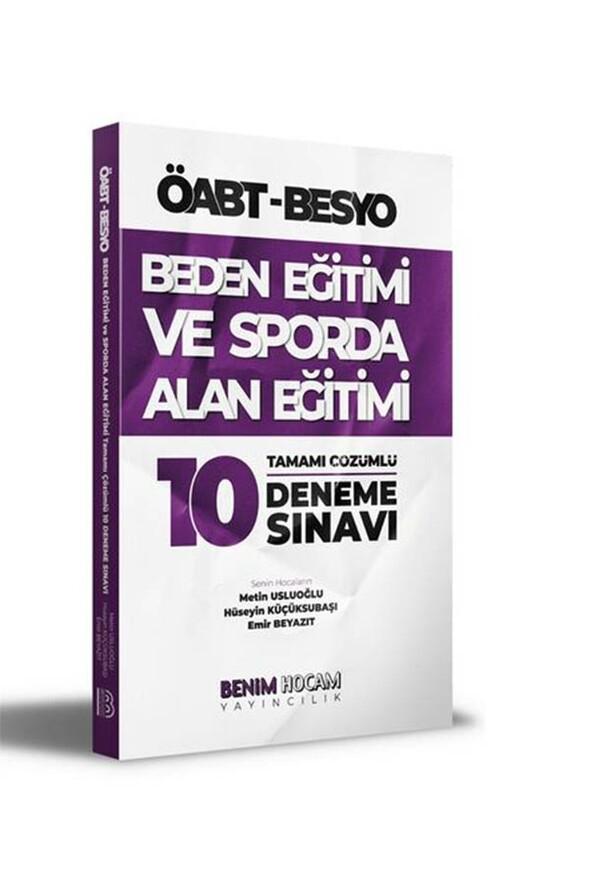 ÖABT Beden Eğitimi ve Sporda Alan Eğitimi Tamamı Çözümlü 10 Deneme Benim Hocam Yayınları