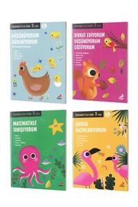 Öğrenmeye İlk Adım Seti 3 Yaş - Erdem Çocuk Yayınları - Thumbnail