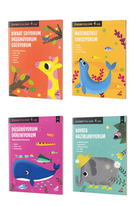 Öğrenmeye İlk Adım Seti 4 Yaş - Erdem Çocuk Yayınları - Thumbnail