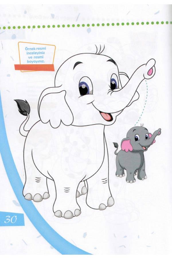 Örneğe Bakarak Boya Okul Öncesi Boyama Set 2 - 6 Kitap