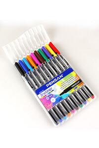 Pensan - Pensan 6500 Fineliner 10 Renk Plastik Kutulu