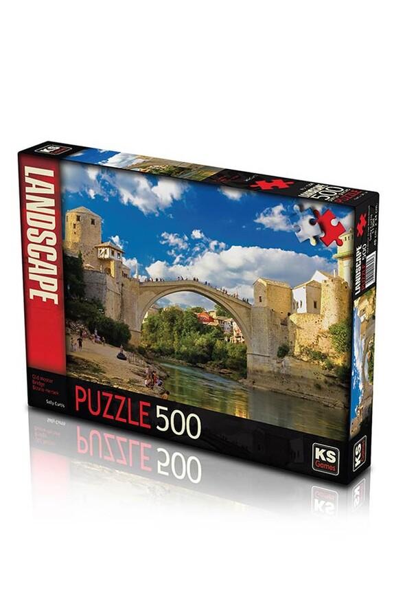 Puzzle 500 Parça - Old Moster Bridge Bosna Hersek