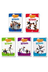 Erdem Çocuk Yayınları - Rafadan Tayfa Boyama Seti - 5 Kitap Takım