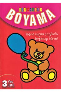 Parıltı Yayınları - Rengarenk Boyama 3 Yaş Üstü - Parıltı Yayınları