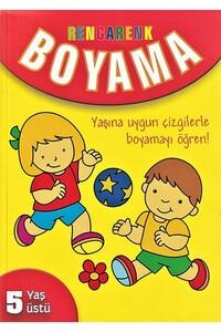 Parıltı Yayınları - Rengarenk Boyama 5 Yaş Üstü - Parıltı Yayınları